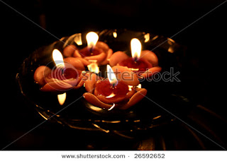 floating candles for diwali