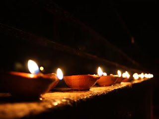 Row of Diyas Diwali Card