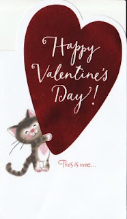 happy valentines day by cat