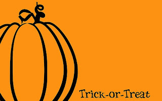 orange trick or treat backgrounds