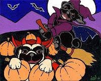 halloween pugs puppy ecards