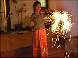 kids diwali firecracker card