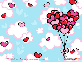 heart shape balloons for valentine card