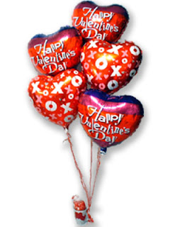 balloon card for valentine