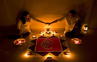 warm diwali couple greetings