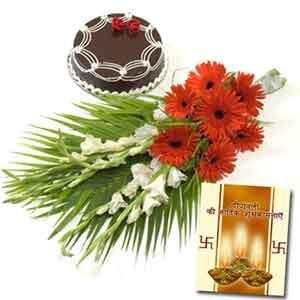 Diwali Floral Cards