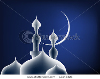blue mosque eid card