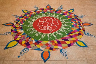 colorful diwali rangoli