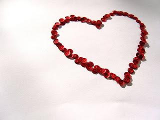 Glittering Valentine Hearts