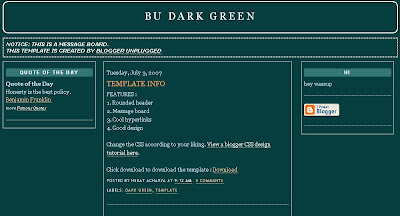 dark-green basic template