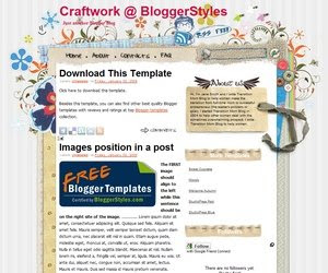 Craftwork Blogger template