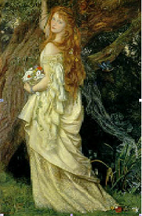 Ofelia. Hughes (1863)