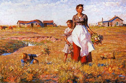 The Prairie Is My Garden By Harvey Dunn