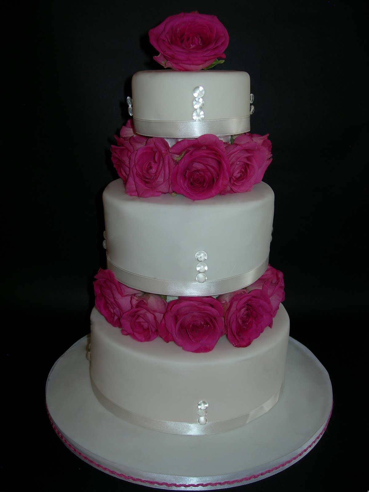 Custom Cake Designs Uk : Custom Cake Design: Pink flower tower