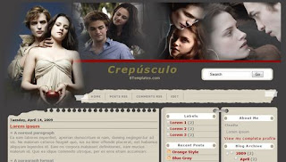 Crepusculo Movie Blogger template