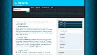 Mimoozha Dark Blue Blogger Template