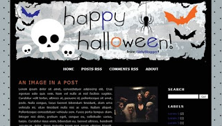 Halloween Blogger Template | Black And Simple