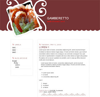 Gamberetto Blogger Template | Photography Design