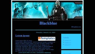 Download Blackblue Blogger Templates