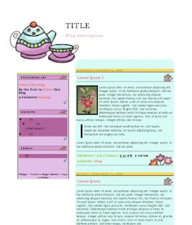 Anime Blogger Template Tea Time