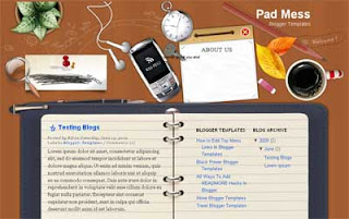 Pad Mess Blogger Template