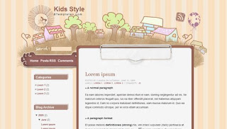 Kids Style Anime Blogger Template