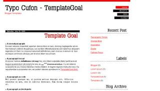 Typo Cufon Blogger Template