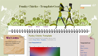 Funky Chicks Blogger Template