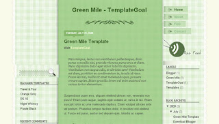 Green Mile Blogger Template