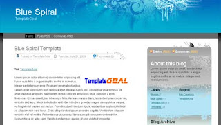 Blogger Template Blue Spiral
