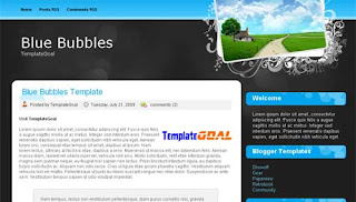 Blogger Template Blue Bubbles