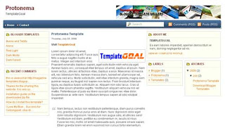 Blogger Template Protonema