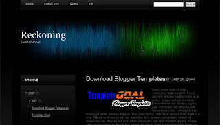 Blogger Template Reckoning