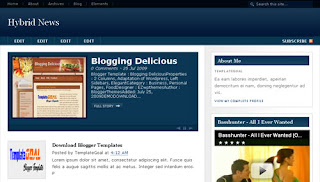 Blogger Template Hybrid News