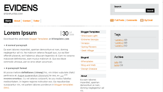Blogger Template Evidens White