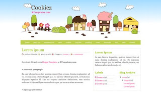 Cookiez Blogger Template
