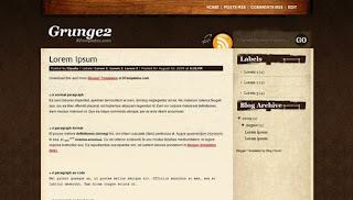 Grunge2 Blogger Template