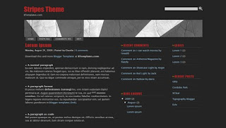 Stripes Theme Dark Elegant Blogger Template