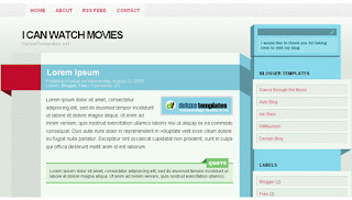 I Can Watch Movies Blogger Template