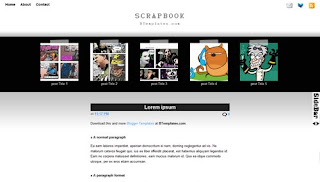 Scrapbook Blogger Template