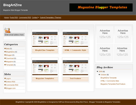 BlogArtZine Magazine Blogger Template