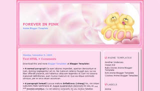 Forever in pink Anime Blogger Template