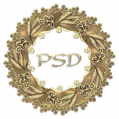 Download opened PSD Gold Frame photoshop PSD free