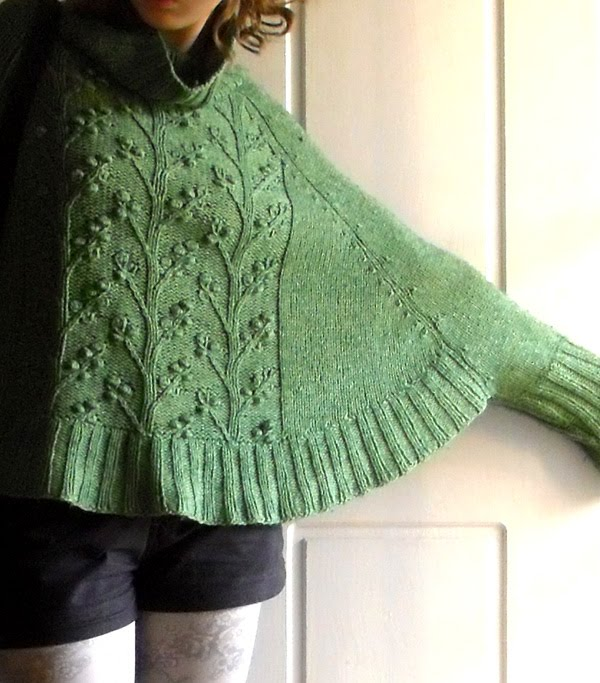 Knitting Pattern For Cape With Sleeves : sew knit me: a sleeved poncho