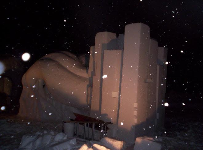 En la noche - nevando