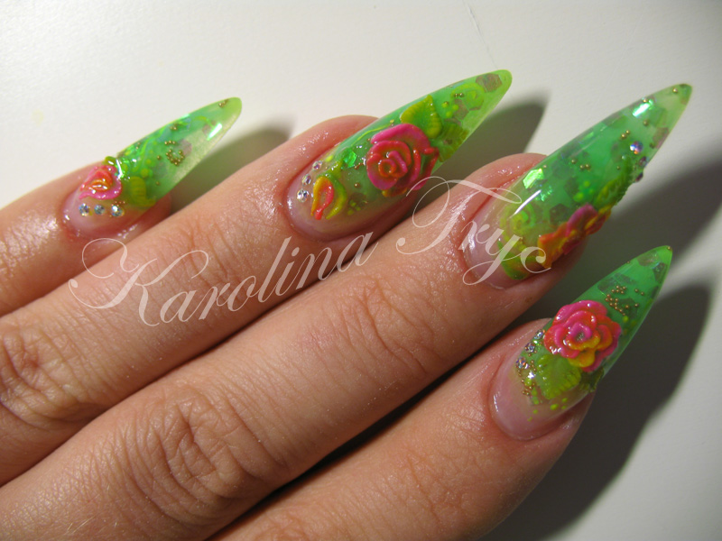 The Astonishing Neon nail designs yellow Picture
