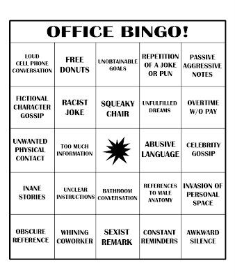 Cold Ramen: OFFICE BINGO!
