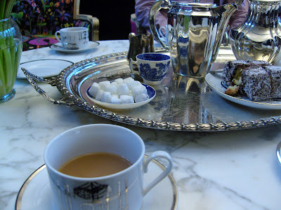 the two dog blog: teatime at Chandelier Creative -