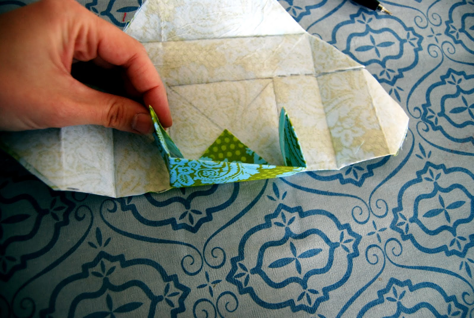 fabric origami boxes