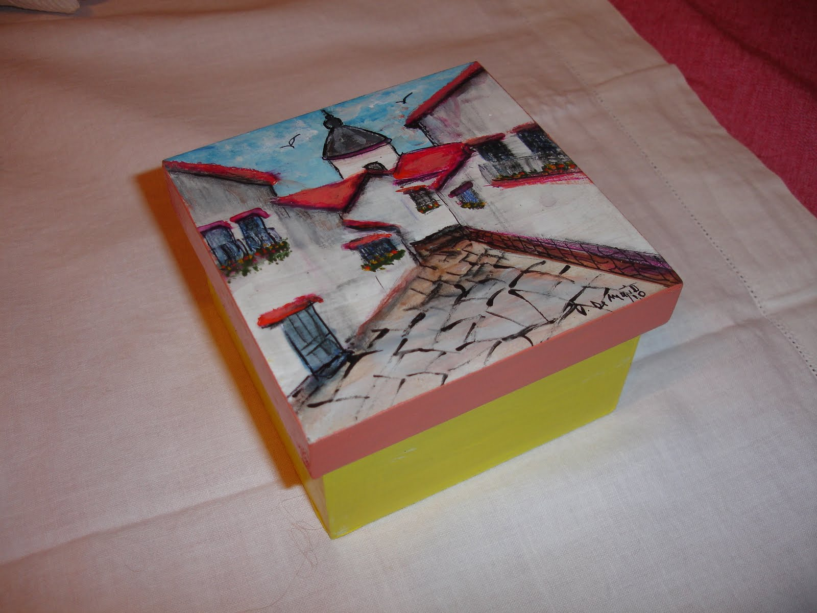 Fotos de cajas de madera pintadas a mano 68